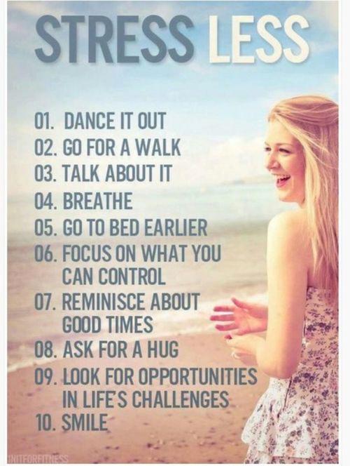 Good ways to relieve stress?